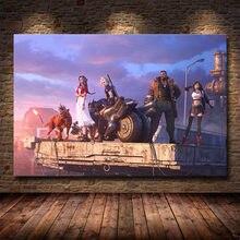 Final fantasia 7 jogo poster tifa nuvem e aeris pintura em tela decoração de casa desenhos animados filme cartaz da arte da parede fotos