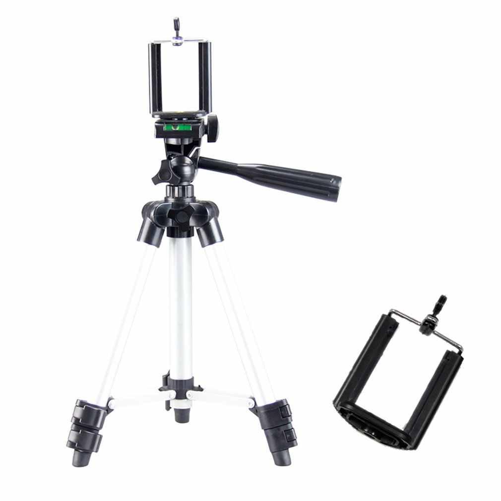 Tripodlar üçlü cep telefonu kamera mobil tutucu monopod standı klip alüminyum uzatma tripod için telefon gezisi celular