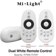 MiLight 2.4G RF 4-Zone kablosuz uzaktan LED Dimmer çift beyaz denetleyici FUT006 FUT007 tüm Miboxer CCT serisi ürün