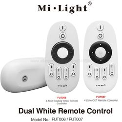 MiLight 2.4G RF 4-Zone Wireless Remote LED Dimmer Dual White Controller FUT006 FUT007 for All Miboxer CCT Series Product