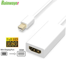 Mini DP to HDMI-compatible Cable Converter Adapter 1080p HD Male To Female DisplayPort DP Adapter Cable For Apple Macbook Pro
