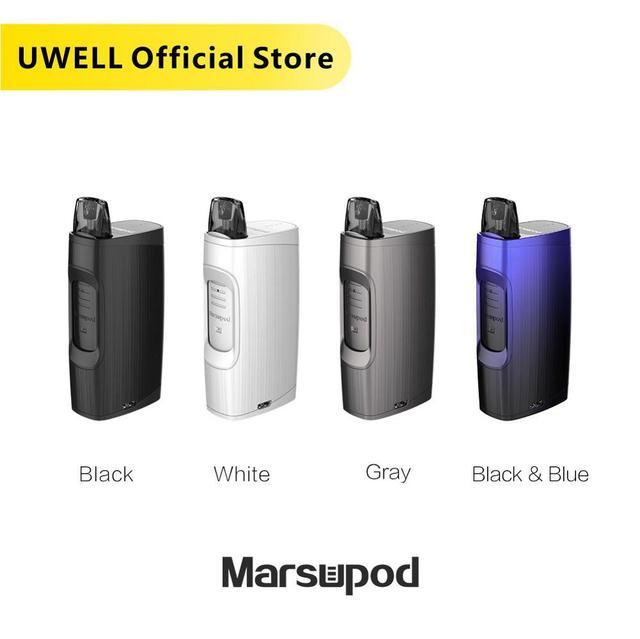 UWELL MarsuPod PCC Kit 150 mAh Battery 11 W 1.3ml Capacity with 1000 mAh Charging Case Vape Pod System Kit E cigarette Vaporizer