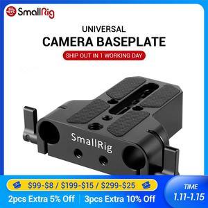 Image 1 - Smallrig universal baixo perfil dslr placa de base da câmera com 15mm haste ferroviário braçadeira como para sony fs7, para sony série a7 1674