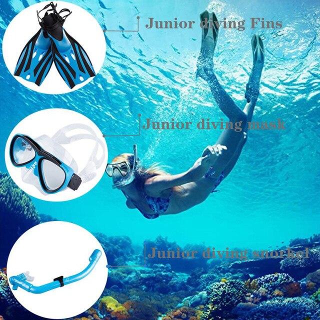 Diving Equipment Set Mask Fin Snorkel Set Panoramic View Diving Mask Diving Fin Diving Snorkel Swimming Spearfishing Dive Men J8 1
