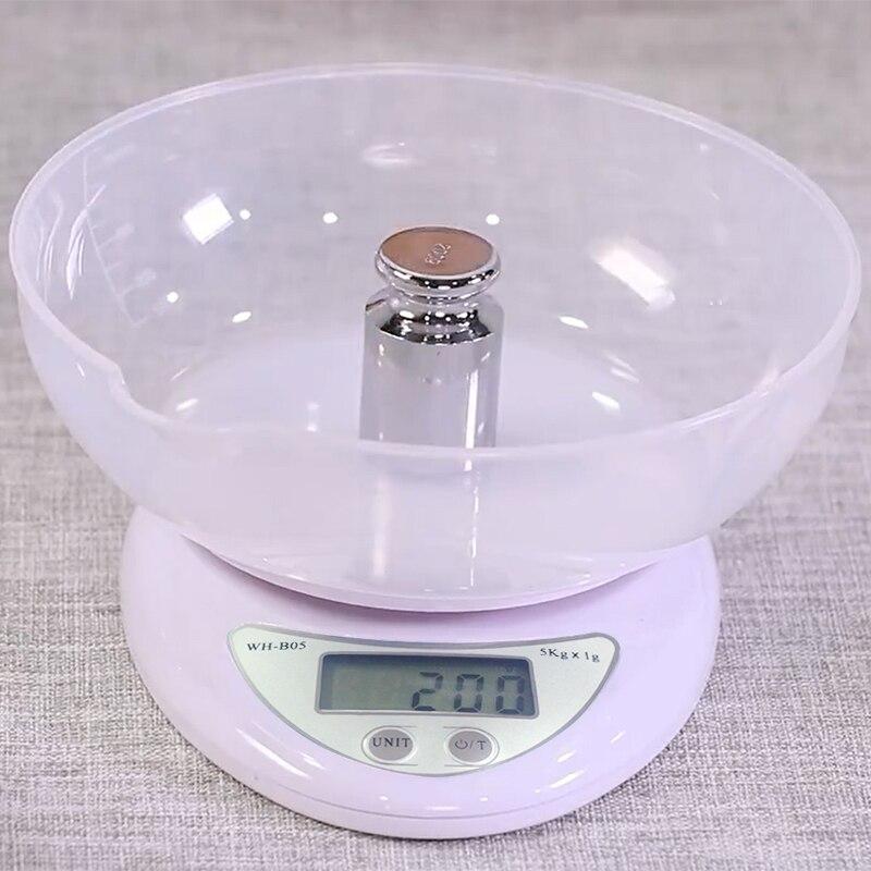 Balança digital portátil de led, balança digital de 5kg/1g, balança postal de alimentos, balança eletrônica de cozinha com led