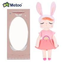 В коробке Анжела кролик Metoo Кукла Мягкие игрушки Плюшевые животные детские игрушки для девочек Дети Мальчики Детские плюшевые игрушки Мультяшные мягкие игрушки
