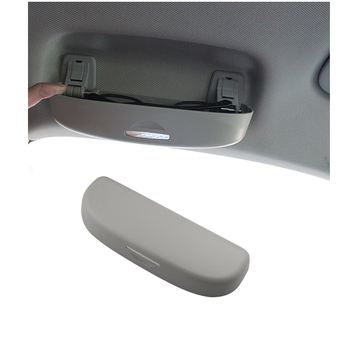цена на Car Glasses Case Sunglasses Holder Storage Box for Audi A4 B8 B9 A3 8V 8P S3 A5 A6 C6 A7 Q3 Q5 Q7 Accessories Interior Grey