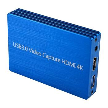 60fps 4K HDMI to USB 3.0 Video Capture Card Dongle 1080P HD Video Recorder Grabber for OBS Capturing Gaming Live Streaming