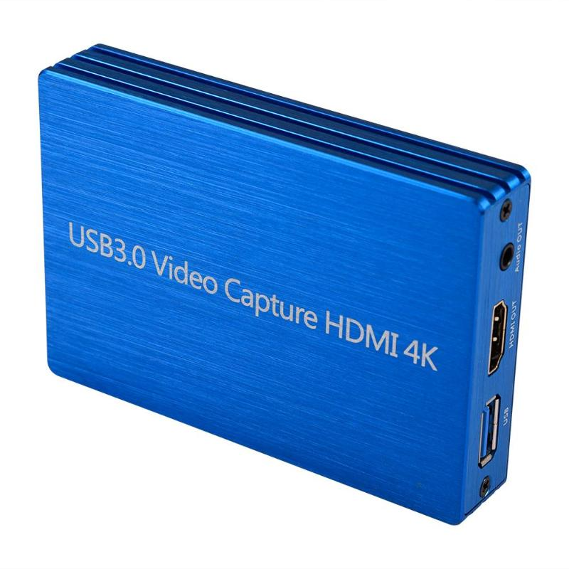 60fps 4K <font><b>HDMI</b></font> to USB 3.0 <font><b>Video</b></font> <font><b>Capture</b></font> <font><b>Card</b></font> Dongle 1080P HD <font><b>Video</b></font> Recorder Grabber for OBS Capturing Gaming Live Streaming image