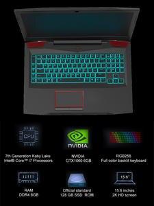 Notebook Game Laptop NVIDIA Windows 10 Keyboard Graphics SSD Intel-Core Backlit GTX1060