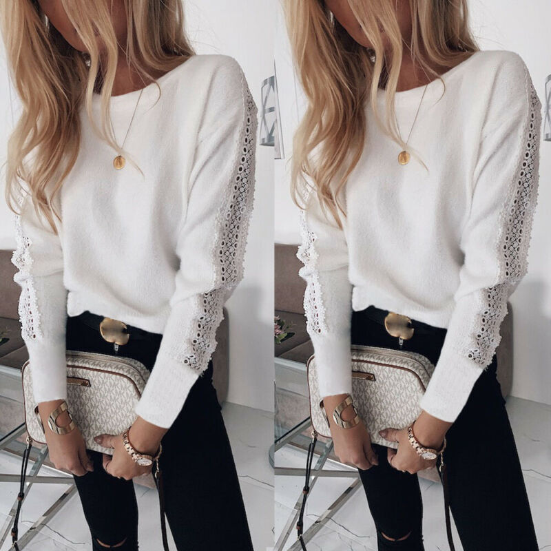 Winter Autumn Women's Blouse Sexy Casual Lace Bandage Top Long Sleeve Crew Neck Blouse Fashion Elegant Casual Loose Shirt Female|Blouses & Shirts| - AliExpress