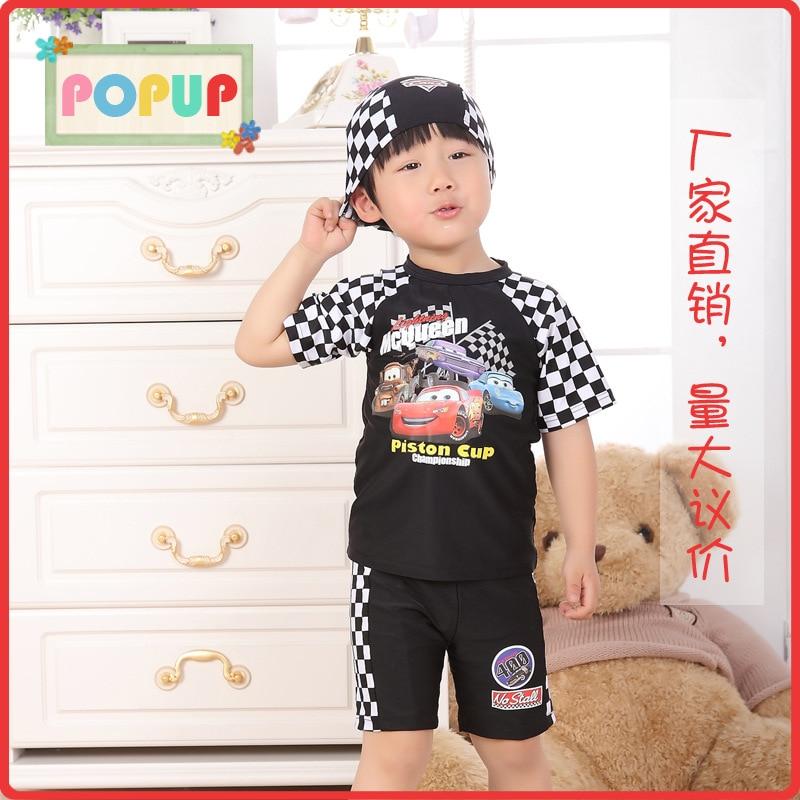 Children Swimming Trunks Swimming Suit Korean-style CHILDREN'S Split Type Indoor Bathing Suit Fashion Boy Outdoor Boxers Swimwea