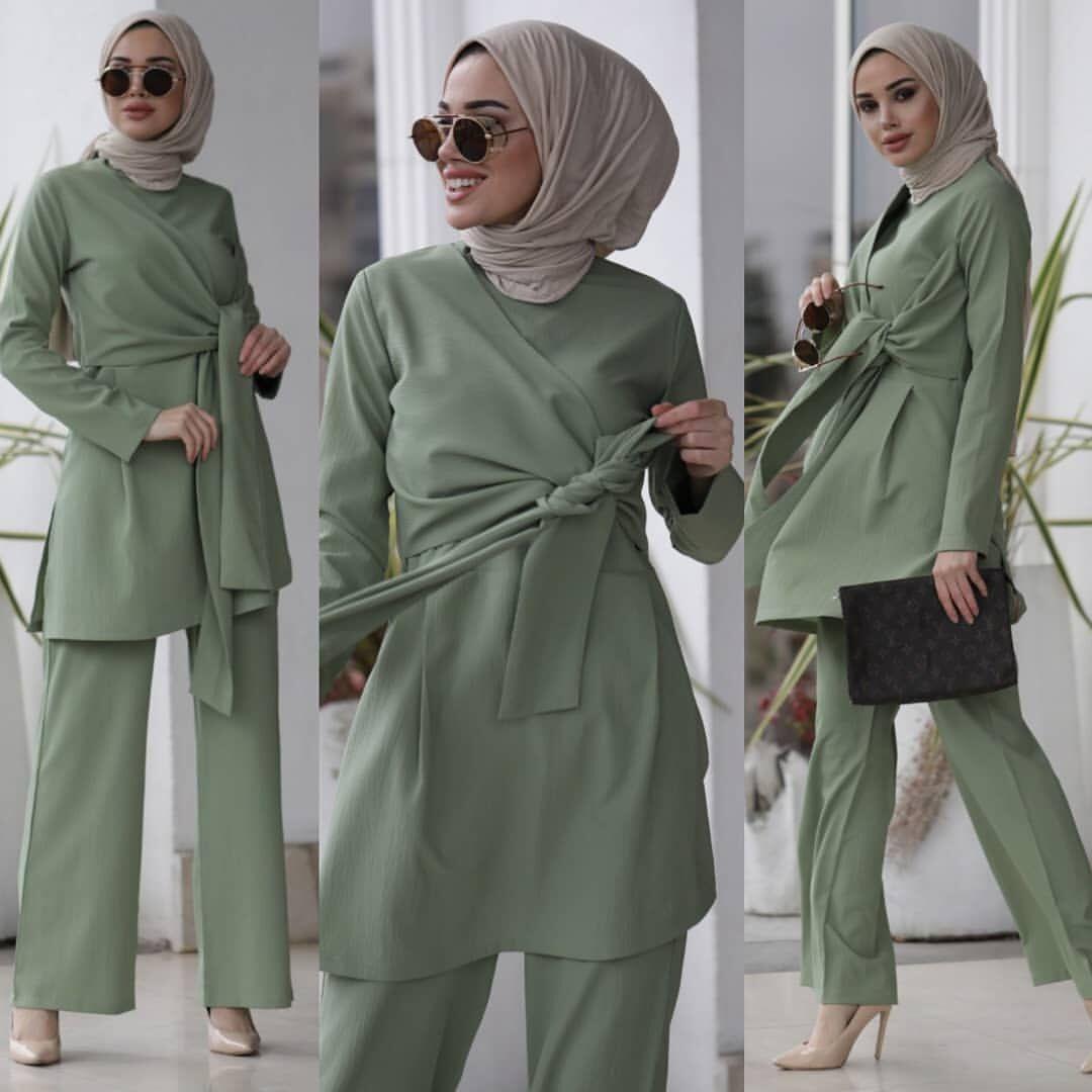 Eid Two Piece Muslim Sets Women Abaya Turkey Hijab Dress Caftan Moroccan Kaftan Islam Clothing Abayas