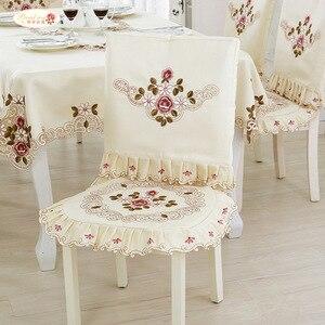 Гордая роза Вышитые чехлы для стульев обеденные чехлы для стульев эластичные чехлы для сидений домашние чехлы для стульев