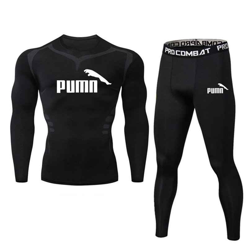 2pcs   set Men s Tracksuit Gym Fitness Compression Sports Suit Clothing Running Jogging Sports Wear Tight Quick Dry Running Sets