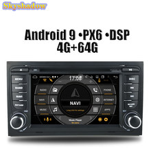 DSP PX6 IPS Android 9.0 4G RAM + 64G Car DVD Player GPS Map RDS Radio Bluetooth Wifi For AUDI A4 SEAT EXEO (2009-2012) S4 RS4 8E(China)