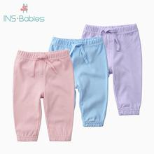 Nowonarodzone dzieci spodnie bawełniane dla niemowląt chłopcy dziewczęta spodnie leginsy dziecięce spodnie dla niemowląt maluch dziewczyna czysta bawełna spodnie w kwiaty dziewczynka tanie tanio OrangeMom Stałe Dla dzieci Proste Pełnej długości Unisex COTTON Europejskich i amerykańskich style Pasuje prawda na wymiar weź swój normalny rozmiar