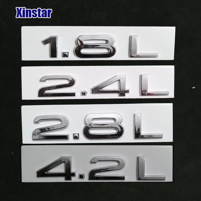Оригинальное качество 1.8L 2.4L 2.8L 4.2L Автомобильная задняя наклейка для Audi Q3 Q5 Q7 A3 A4 A5 A6 A7 A8|Наклейки на автомобиль|   | АлиЭкспресс