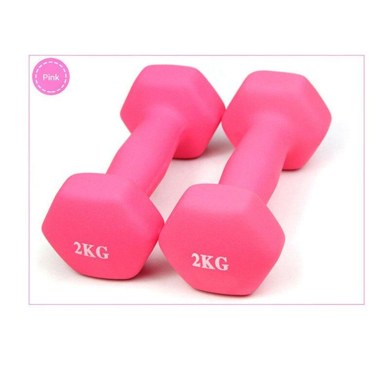 4 Color 2kg Matte  Dumbbells Rack Stands Dumbbells Holder Weightlifting Set Home Fitness Equipment Halteres Rack Stand Dumbbells