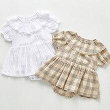 Bodysuits Jumpsuit Toddler Baby-Girl Japan-Style Korean Cotton Summer Dress Sleeveless