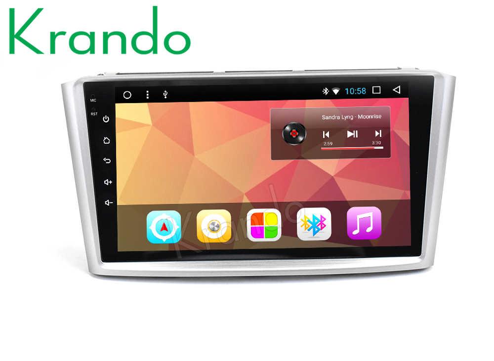 """Krando Android 8.1 9 """"Màn Hình Lớn Đa Phương Tiện Hệ Thống Đài Phát Thanh Người Chơi Đồng Hồ Định Vị GPS Cho Xe Toyota Avensis 2003-2007 Âm Thanh Nổi điều Hướng BT WIFI"""