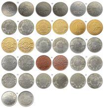 Arábia saudita mix 16pcs diferente prata/ouro chapeado cópia moeda