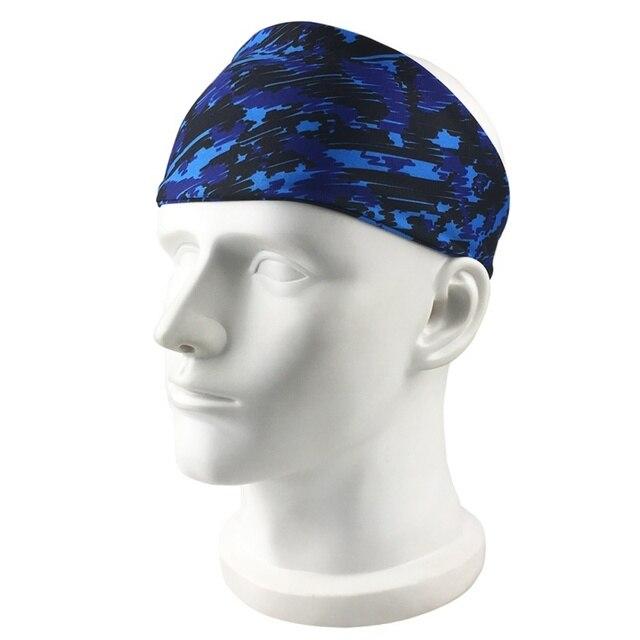 Outdoor Fitness Running Headband Bandage Quick-drying Sweat Belt Sports Tennis Headband Sweat-proof Breathable Headband 1