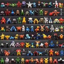 144Pcs 포켓몬 피규어 모델 Anime Pokémon Styles Collection 타카라 토미 귀여운 피카추 그림 2-3cm 인형 생일 어린이 장난감 선물