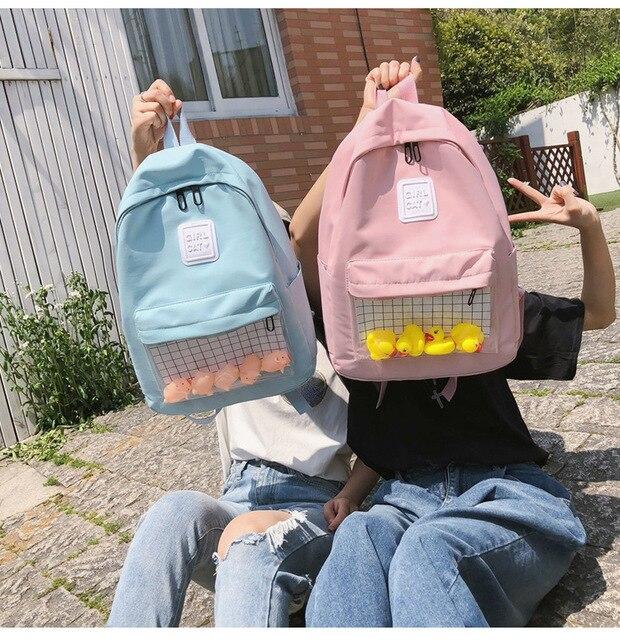 Kawaii Pastel Ducks Waterproof Backpack