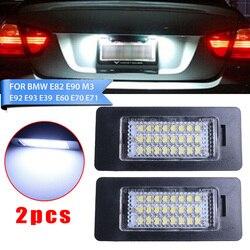 2pcs Car License Plate Number Lights 24LED For BMW E90 M3 E92 E60 E61 E93 168LM LED License Plate Light