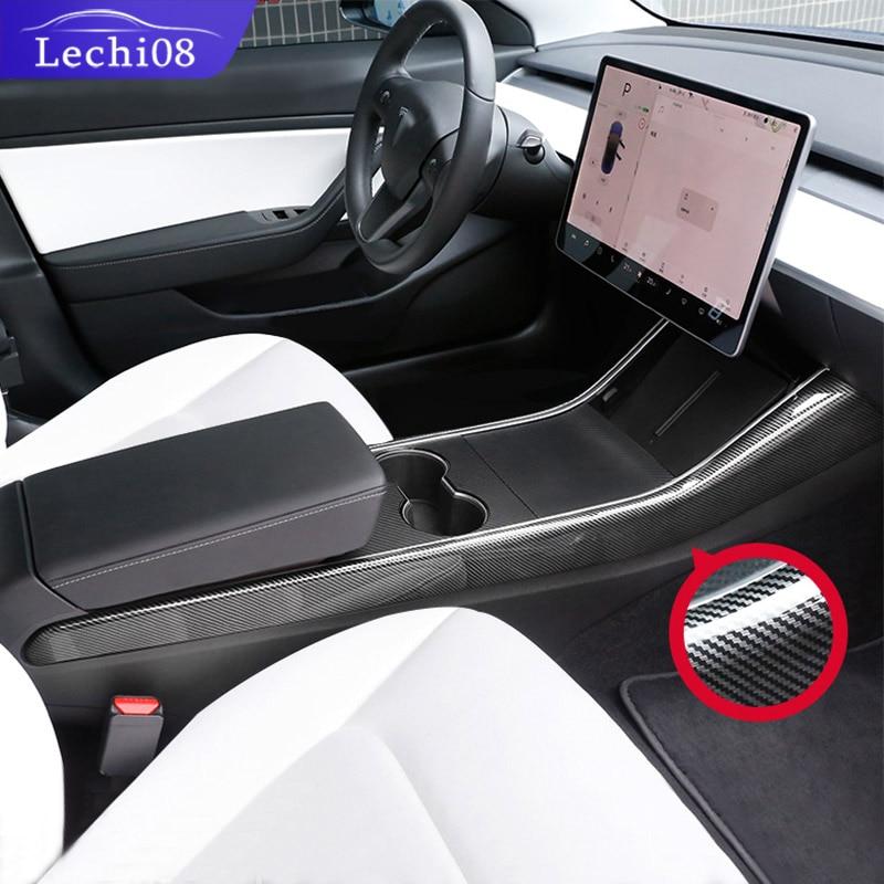 Center Side Trim Strip For Tesla Model 3 Accessories Tesla Model Y Model 3 Tesla Three Tesla Model 3 Carbon/accessoires Model3
