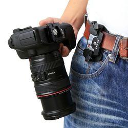 Asli Puluz PU231 Asli Puluz Menangkap Kamera Klip Aluminium Paduan Cepat Rilis Klip dengan Plat