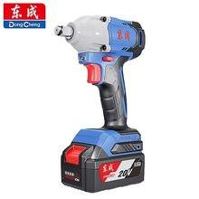 Dongcheng brushless elétrica chave de impacto da bateria de lítio para trabalhar madeira 20v prateleira chave elétrica recarregável