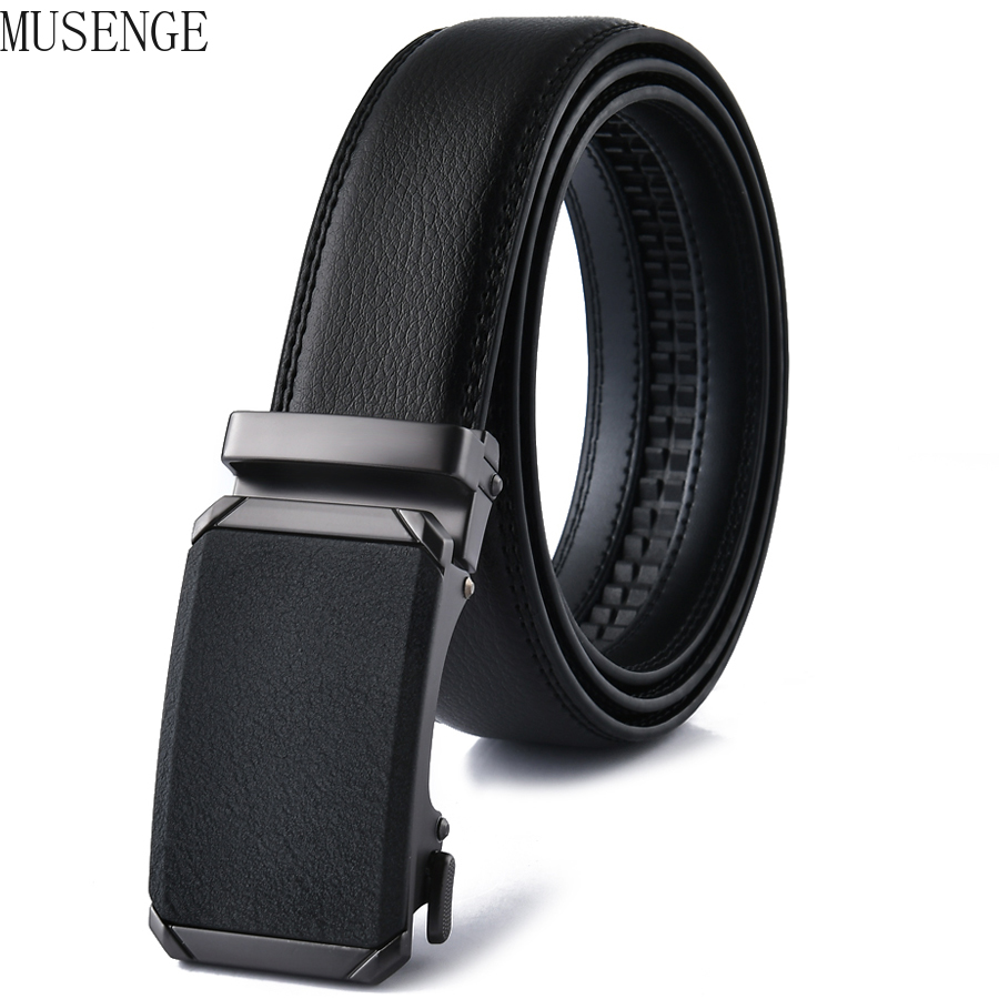 Casual Automatic Buckle Mens Belts for Men Leather Man Male Belt Classy Touser Top Quality Designer Luxury Accessories 2021 New