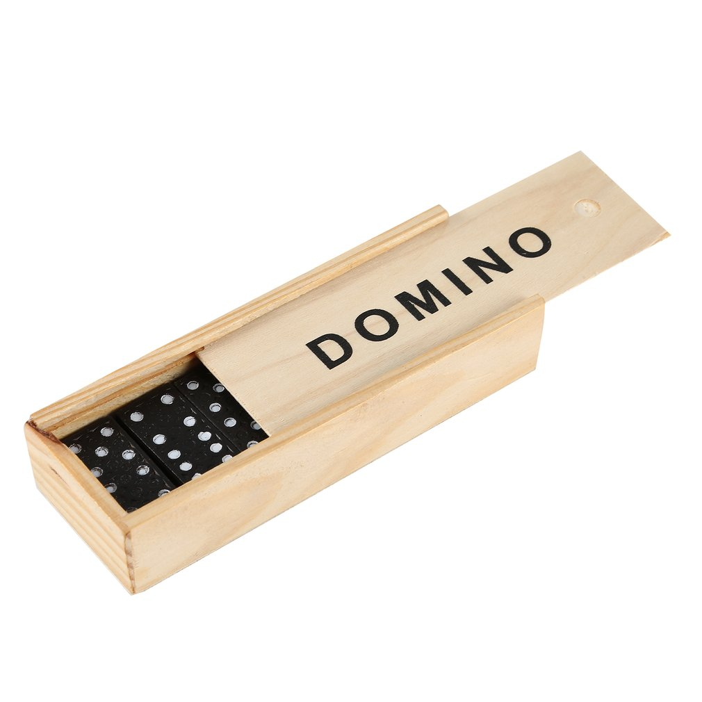 Hot Sale Dominoes Set- 28 Piece Domino Tiles Set Handcrafted Classic Numbers Table Game With Wooden Storage Case