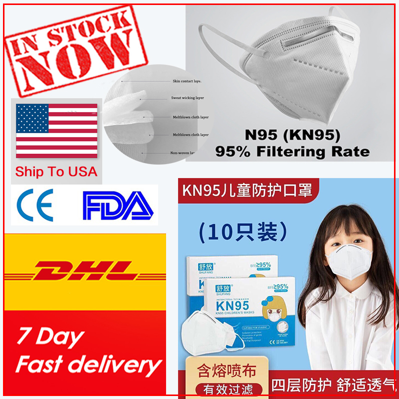 Kids Men Women Children 50pcs N95-maskes Pm25 Adult Kn95-maskes