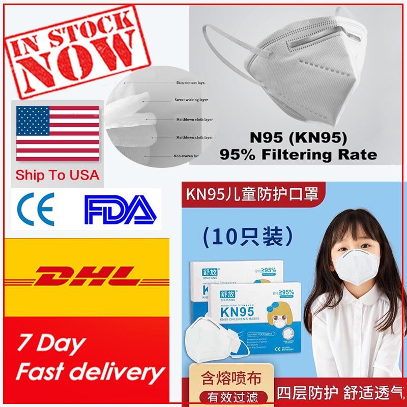 Kids Men Women Children 50pcs N95-maskes Pm25 Adult Kn95-maskes