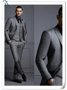Groom Suit Pant Jacket Wedding-Suits New-Fashion Tuxedos for Best Men Slim-Fit Dark-Gray