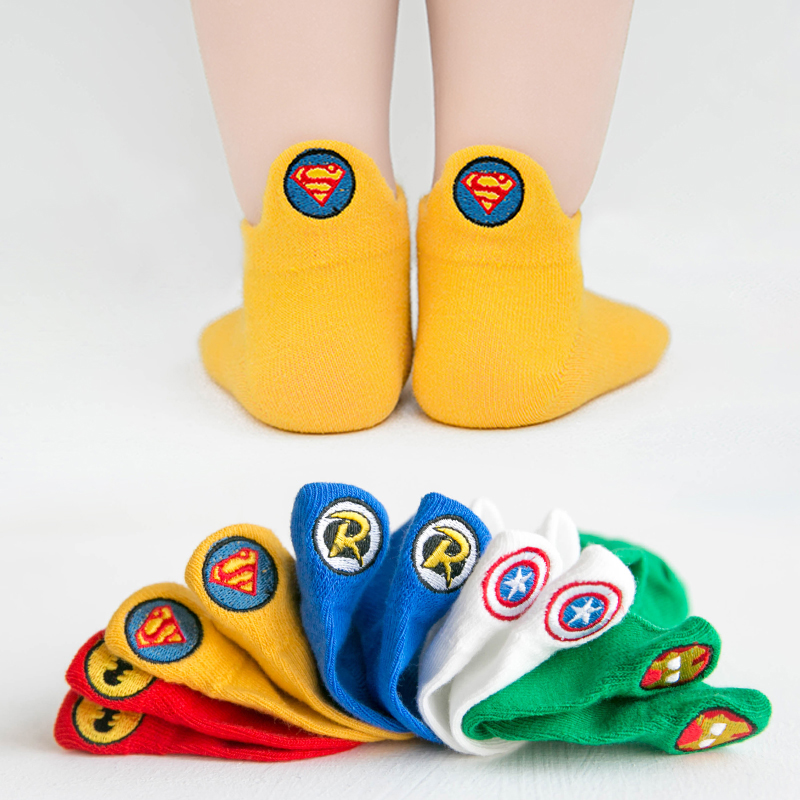 Cute Birds-1 5 Pairs Colorful Cotton Crew Seamless Socks for Kids Toddler Big Little Boys Girls