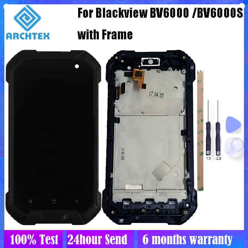 For Original Blackview <font><b>BV6000</b></font> BV6000S <font><b>LCD</b></font> Display + Touch Screen with Frame Digitizer Assembly Parts 100% Tested Free Tools image
