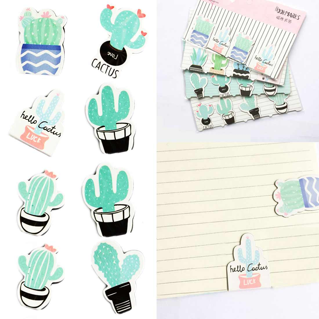 4 Pcs/pack Cactus Naked Bookmark Paper Clip School Office Supply Escolar Papelaria Gift Stationery
