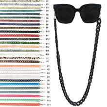 Летняя мода акриловые очки для чтения подвесная цепочка на шею