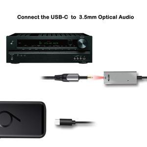 Image 3 - Reiyin DAC USB C إلى Toslink البصرية 3.5 مللي متر سماعة 192 كيلو هرتز 24bit محول الصوت PC كارت الصوت
