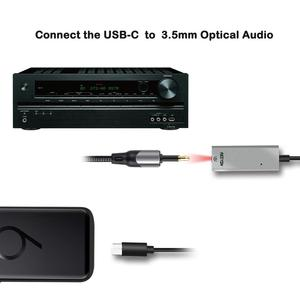 Image 3 - Reiyin DAC USB C to Toslink Optical 3.5mm Headset 192kHz 24bit Audio Adapter PC Sound Card