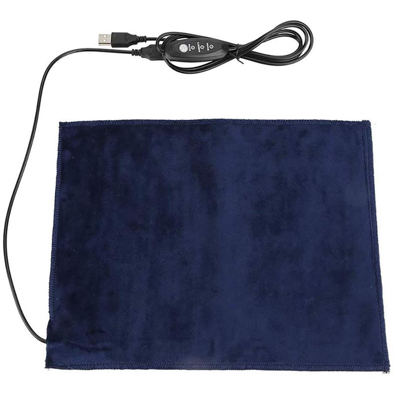 1pc Portable USB Electric Heating Pad 3 Gear Adjusted Temperature DIY Thermal Vest Clothing Heated Pads Warmer