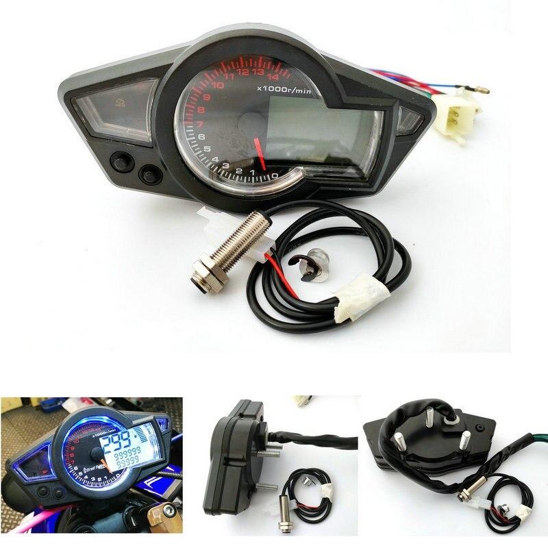Цифровой спидометр для мотоцикла с ЖК-дисплеем, тахометр PS250, инструменты для мотоцикла 10