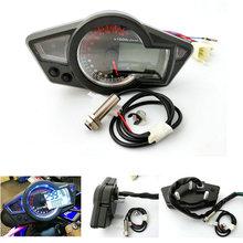"Motorcycle Lcd Digitale Snelheidsmeter Toerenteller PS250 Motorfiets Instrumenten 10 "" 21"" 500 Ohmse"