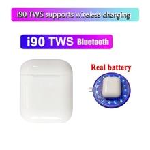 i90 TWS 1:1 Bluetooth 5.0 Earphone 6D Wireless charging for smart phone PK i12 i10 i20 i30 W1 Chip