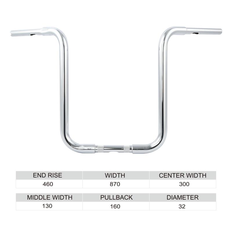 """Chrome Hanger Bar 1.25/"""" 12/"""" Rise Handlebar Fit For Harley Sportster XL883 Custom"""