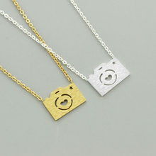 Stainless Steel Necklace For Women Lovers Gold And Silver Color Camera Pendant Maxi necklace Choker Colar